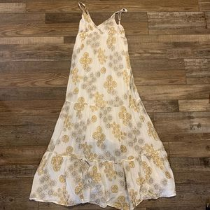 3/$22 Gold Floral Maxi Dress